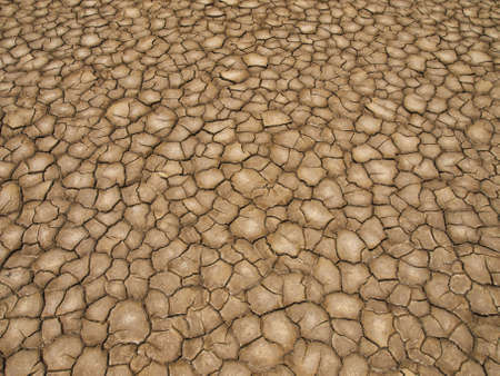 A baked earth soil after a long drought. photo