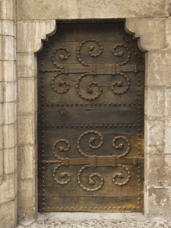 A medieval door in Rocamadour, Midi-Pyr�n�es, France. Stock Photo - 7096131