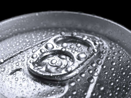 Closeup shot from the pull ring on a beverage can. Stock Photo - 10269736