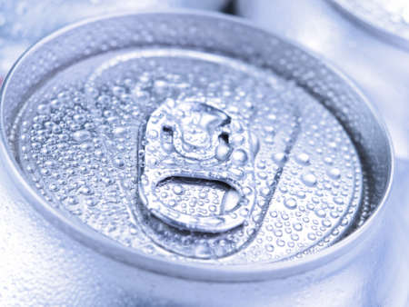 Close up view of a tin can with condensation. Stock Photo - 10269737