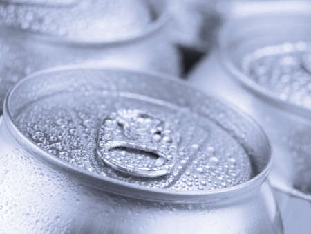Close up view of a tin can with condensation. Stock Photo - 10269730