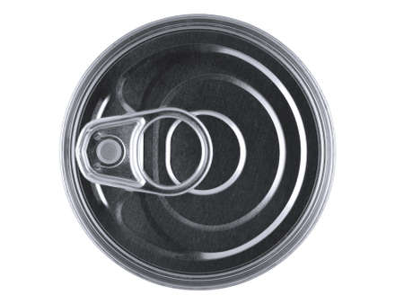 Top view of a pull ring can isolated over white. Stock Photo - 10269731