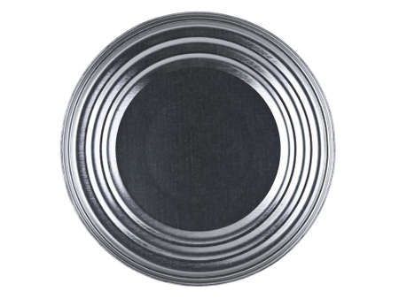 Top view of a tin can over a white background. Stock Photo - 10269735