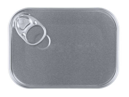 Top view of a rectangular can isolated on white. Stock Photo - 10269734