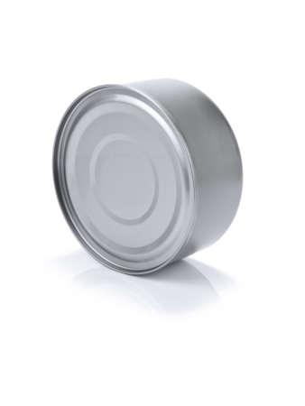 A single tin can isolated on white. Stock Photo - 10269688