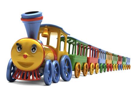 illustratie van kleurrijke locomotief