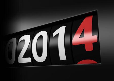 nieuwe jaar 2014 Stockfoto