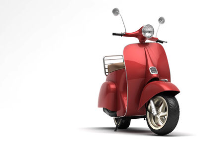 a two wheeled vehicle: Italian scooter