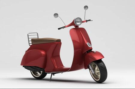 Italiaanse scooter Stockfoto