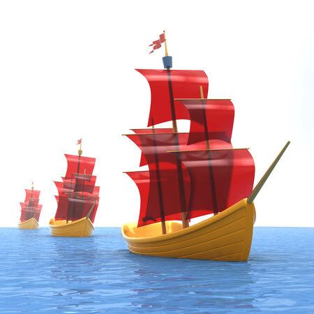 speelgoed schepen Stockfoto