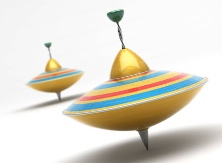 Whirligigs in beweging Stockfoto
