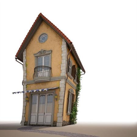 cartoon huis uitzicht vanaf de voorzijde