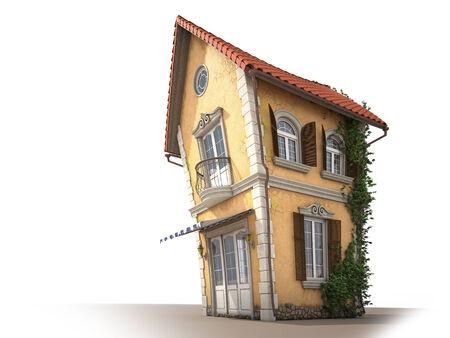 cartoon huis uitzicht vanaf rechts