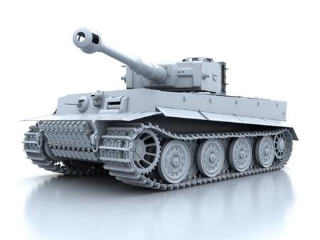 oude Duitse tank tijger