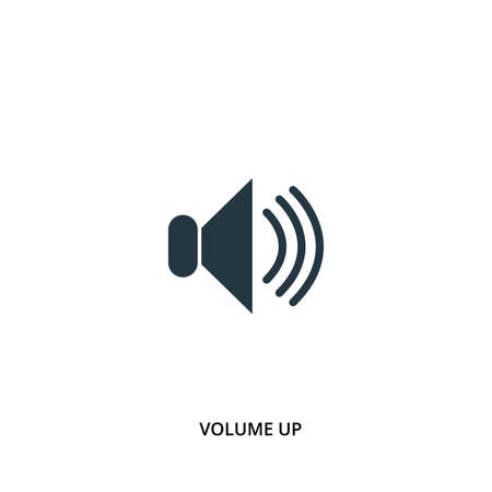 Volume up icon in vector. Flat style icon design. UI. Vector illustration of volume up icon.