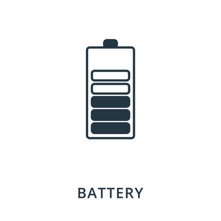 Battery icon. Flat style icon design. UI. Illustration of battery icon. Pictogram isolated on white. Ready to use in web design, apps, software, print. Illustration