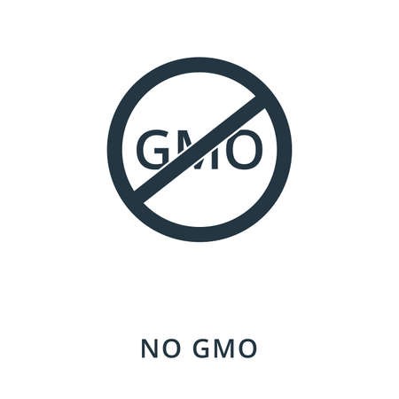 No Gmo icon. Flat style icon design. UI. Illustration of no gmo icon. Pictogram isolated on white. Ready to use in web design, apps, software, print.