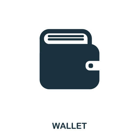 Wallet icon. Flat style icon design. UI. Illustration of wallet icon. Pictogram isolated on white. Ready to use in web design, apps, software, print. Zdjęcie Seryjne