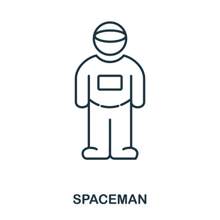 Spacemen icon. Flat style icon design. UI. Illustration of spacemen icon. Pictogram isolated on white. Ready to use in web design, apps, software, print.