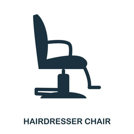 Hairdresser Chair icon. Flat style icon design. UI. Illustration of hairdresser chair icon. Pictogram isolated on white. Ready to use in web design, apps, software, print Illustration
