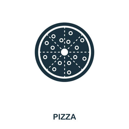 Pizza icon. Mobile apps, printing and more usage. Simple element sing. Monochrome Pizza icon illustration.
