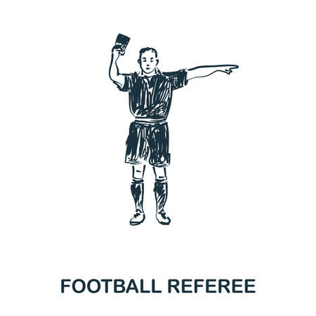 Football Referee icon. Mobile apps, printing and more usage. Simple element sing. Monochrome Football Referee icon illustration.