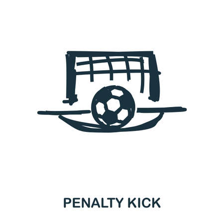 Penalty Kick icon. Mobile apps, printing and more usage. Simple element sing. Monochrome Penalty Kick icon illustration