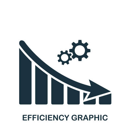Efficiency Decrease Graphic icon. Mobile app, printing, web site icon. Simple element sing. Monochrome Efficiency Decrease Graphic icon illustration.