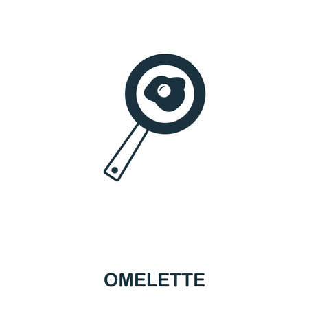 Simple outline Omelette icon. Pixel perfect linear element. Omelette icon outline style for using in mobile app, web UI, print.
