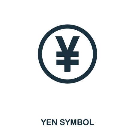 Yen Symbol icon. Mobile app, printing, web site icon. Simple element sing. Monochrome Yen Symbol icon illustration.
