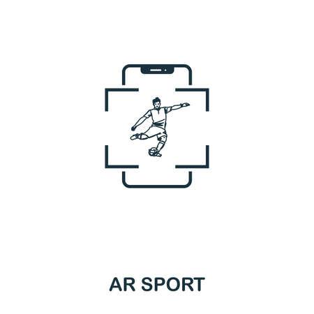 Ar Sport icon. Mobile app, printing, web site icon. Simple element sing. Monochrome Ar Sport icon illustration. Stock Photo