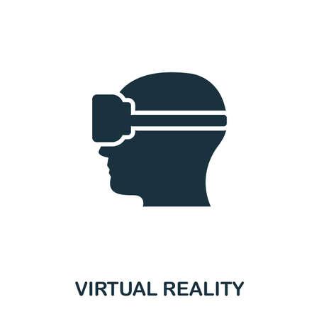 Virtual Reality icon. Mobile app, printing, web site icon. Simple element sing. Monochrome Virtual Reality icon illustration.