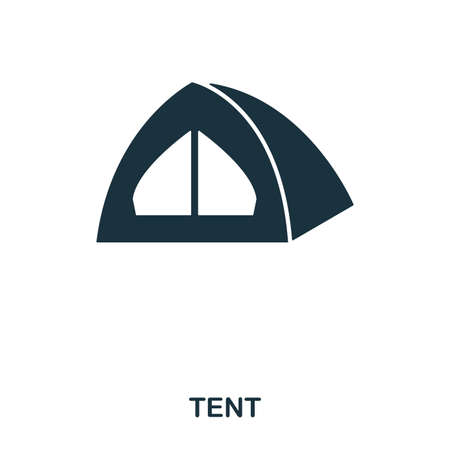 Tent icon. Mobile app, printing, web site icon. Simple element sing. Monochrome Tent icon illustration. Banque d'images - 103164489