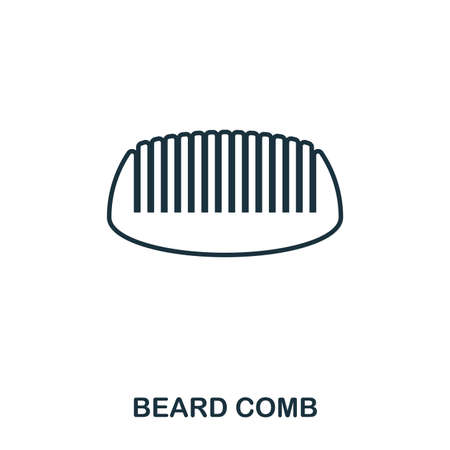 Beard Comb icon. Flat style icon design. UI. Illustration of beard comb icon. Pictogram isolated on white. Ready to use in web design, apps, software, print. Фото со стока