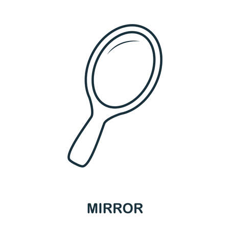 Mirror icon. Flat style icon design. UI. Illustration of mirror icon. Pictogram isolated on white. Ready to use in web design, apps, software, print. Stockfoto