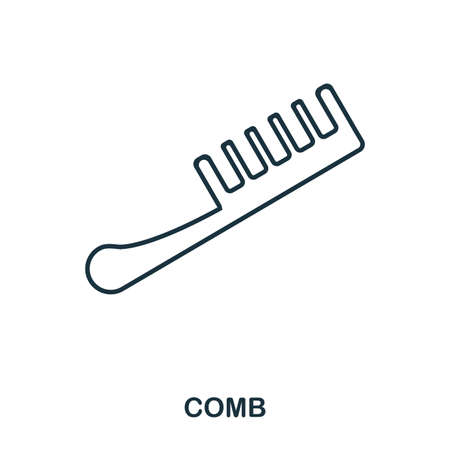 Comb icon. Flat style icon design. UI. Illustration of comb icon. Pictogram isolated on white. Ready to use in web design, apps, software, print. Banque d'images