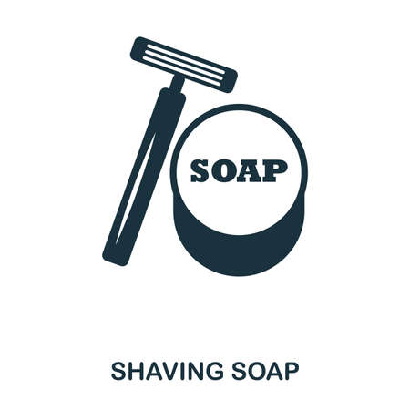 Shaving Soap icon. Flat style icon design. UI. Illustration of shaving soap icon. Pictogram isolated on white. Ready to use in web design, apps, software, print. Foto de archivo - 103165666