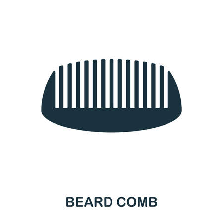 Beard Comb icon. Flat style icon design. UI. Illustration of beard comb icon. Pictogram isolated on white. Ready to use in web design, apps, software, print. 写真素材