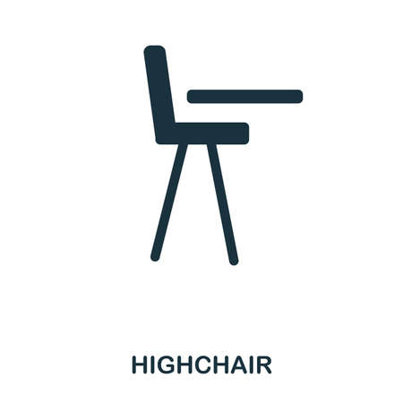 Highchair icon. Mobile apps, printing and more usage. Simple element sing. Monochrome Highchair icon illustration.