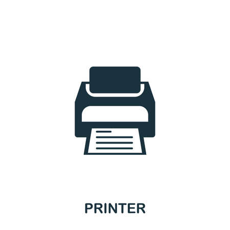 Printer icon. Line style icon design. UI. Illustration of printer icon. Pictogram isolated on white. Ready to use in web design, apps, software, print.