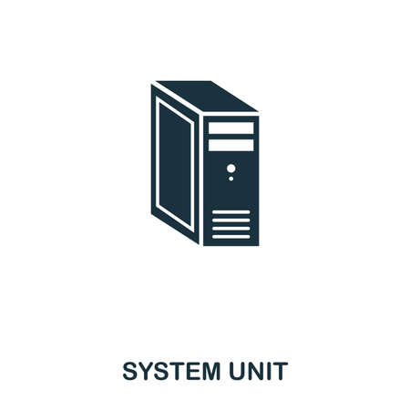 System Unit icon. Line style icon design. UI. Illustration of system unit icon. Pictogram isolated on white. Ready to use in web design, apps, software, print. Stok Fotoğraf