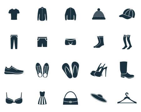 Clothes icons set. Premium quality symbol collection. Clothes icon set simple elements.