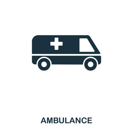 Ambulance icon. Line style icon design. UI. Illustration of ambulance icon. Pictogram isolated on white. Ready to use in web design, apps, software, print. Stock Photo