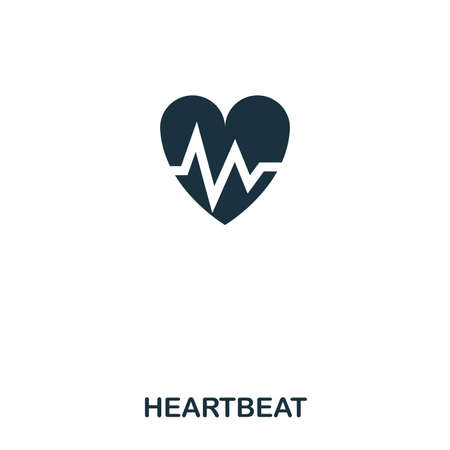 Heartbeat icon. Line style icon design. UI. Illustration of heartbeat icon. Pictogram isolated on white. Ready to use in web design, apps, software, print.