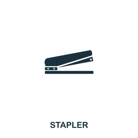 Stapler icon. Line style icon design. UI. Illustration of stapler icon. Pictogram isolated on white. Ready to use in web design, apps, software, print.