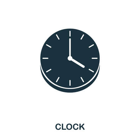 Wall Clock icon. Line style icon design. UI. Illustration of wall clock icon. Pictogram isolated on white. Ready to use in web design, apps, software, print.