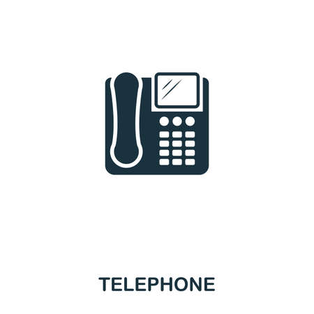DevicesTelephone icon. Line style icon design. UI. Illustration of telephone icon. Pictogram isolated on white. Ready to use in web design, apps, software, print. 矢量图像