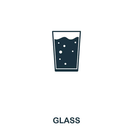 Glass icon. Line style icon design. UI. Illustration of glass icon. Pictogram isolated on white. Ready to use in web design, apps, software, print.