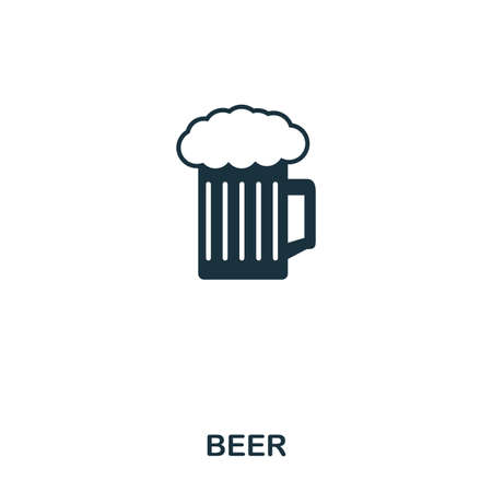 Beer icon. Line style icon design. UI. Illustration of beer icon. Pictogram isolated on white. Ready to use in web design, apps, software, print.