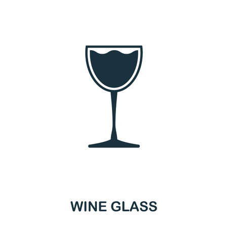 Wine Glass icon. Line style icon design. UI. Illustration of wine glass icon. Pictogram isolated on white. Ready to use in web design, apps, software, print.